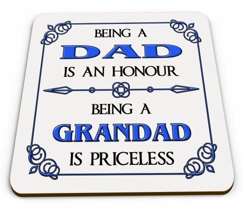 Being A... Is An Honour Being A... Is Priceless Novelty Glossy Mug Coaster - Blue